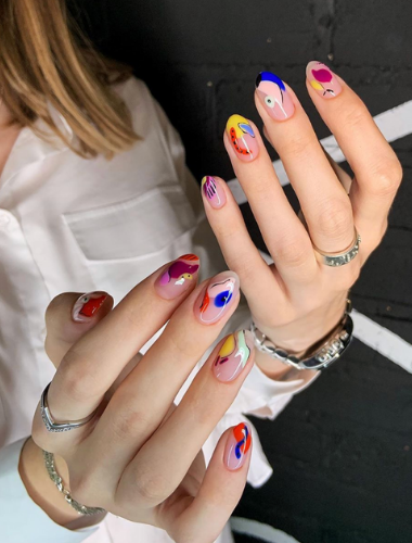 bold nail colours manicure canberra
